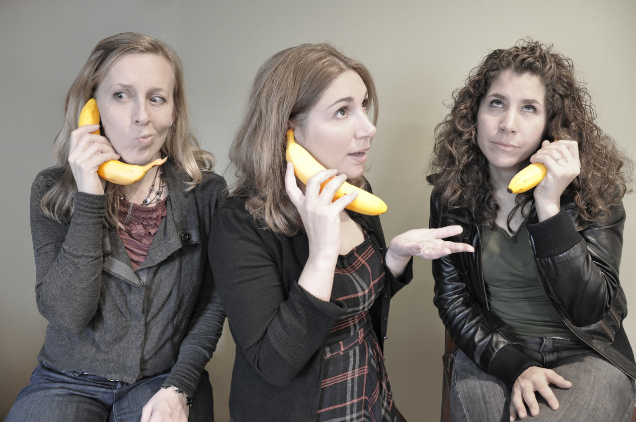Women in Comedy Festival producers Elyse Schuerman, Michelle Barbera and Maria Ciampa. (Courtesy WICF)