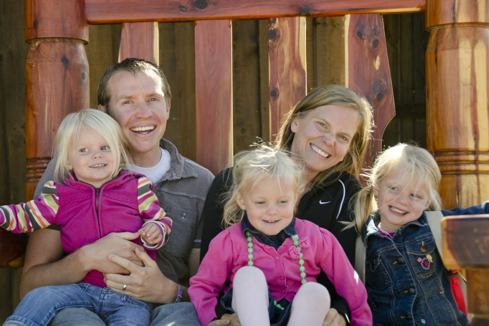Alissa Parker with her husband Robbie and daughters (left to right) Samantha, Madeline and Emilie. (Courtesy of the Parker family)