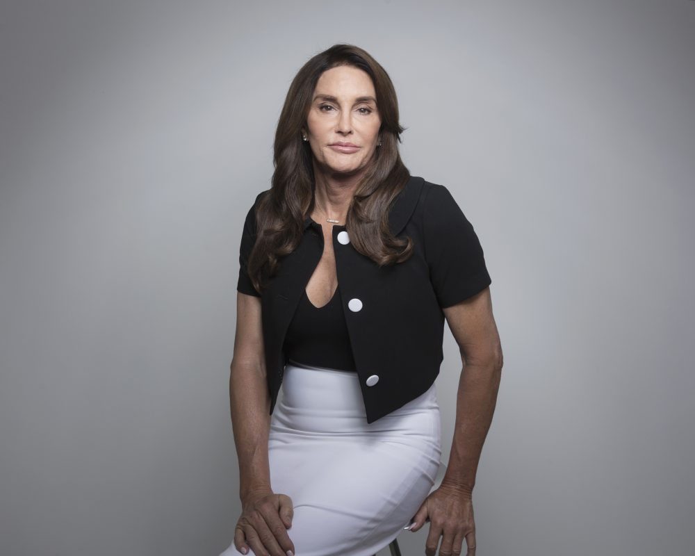 """Caitlyn Jenner poses for a portrait on Monday, April 24, 2017, in New York to promote her memoir, """"The Secrets of My Life."""" (Taylor Jewell/Invision/AP)"""