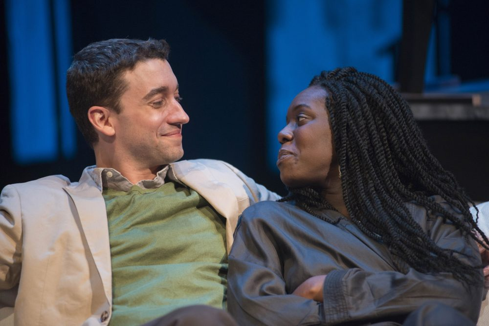 "Alejandro Simoes as Ernesto and Obehi Janice as Ruth in ""The Gift Horse."" (Courtesy Andrew Brilliant)"