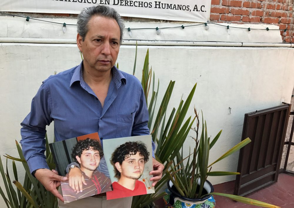Juan Carlos Moreno has been looking for his son, Jesus Israel, ever since he went missing in 2011. (Peter O'Dowd/Here & Now)