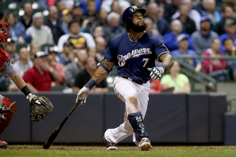 Out of MLB for the past four seasons, Eric Thames is back -- and leading the league in homers. (Dylan Buell/Getty Images)
