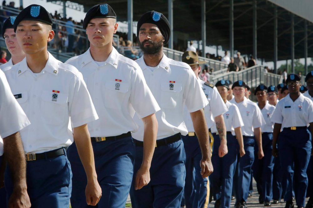 Kanwar Singh at Basic Training graduation in Fort Jackson, South Carolina, in August 2016. (Courtesy of Denise McGill, the Sikh Coalition)