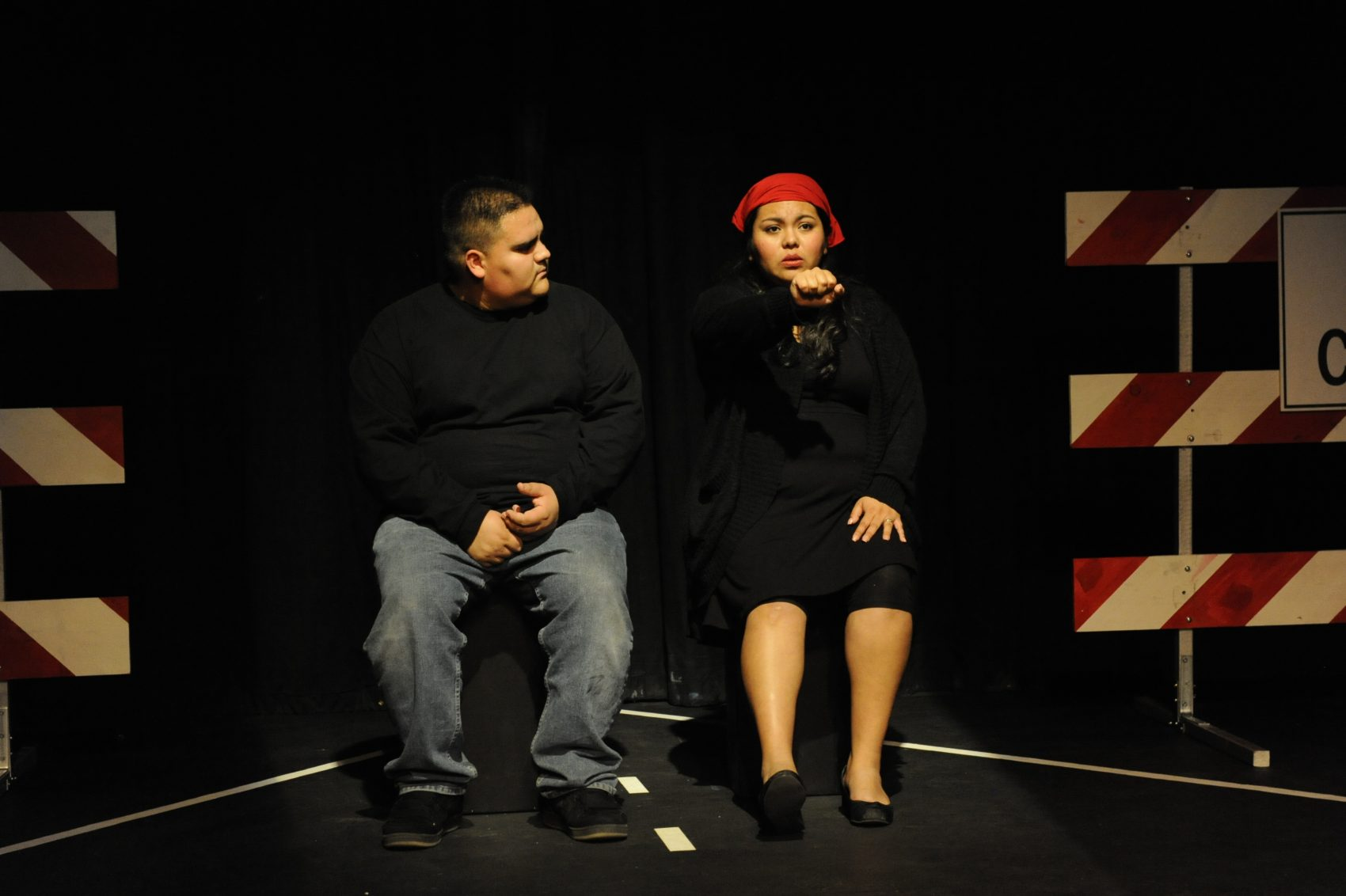 "Victor Galvan (left) during a performance of ""Do You Know Who I Am?"" (Courtesy Michael Ensminger)"