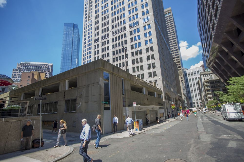 The now-closed Winthrop Square Garage is seen in August 2016 (Jesse Costa/WBUR)