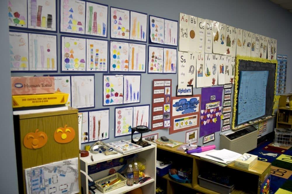 The wall of a U.S. kindergarten classroom. (woodleywonderworks/Flickr)
