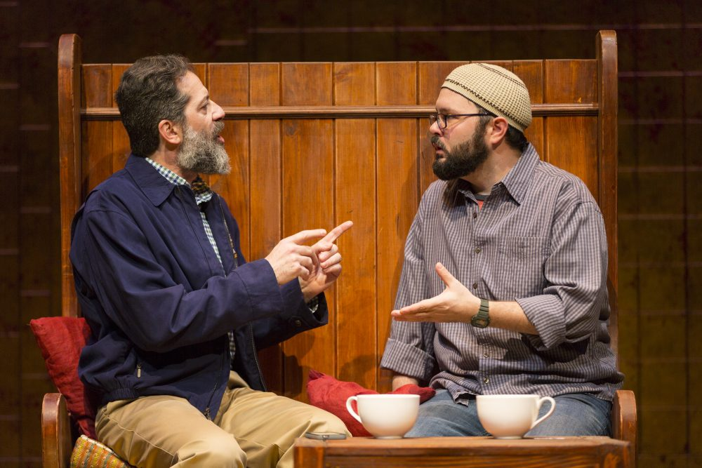 Rom Barkhordar as Afzal and Joseph Marrella as Eli. (Courtesy T. Charles Erickson)
