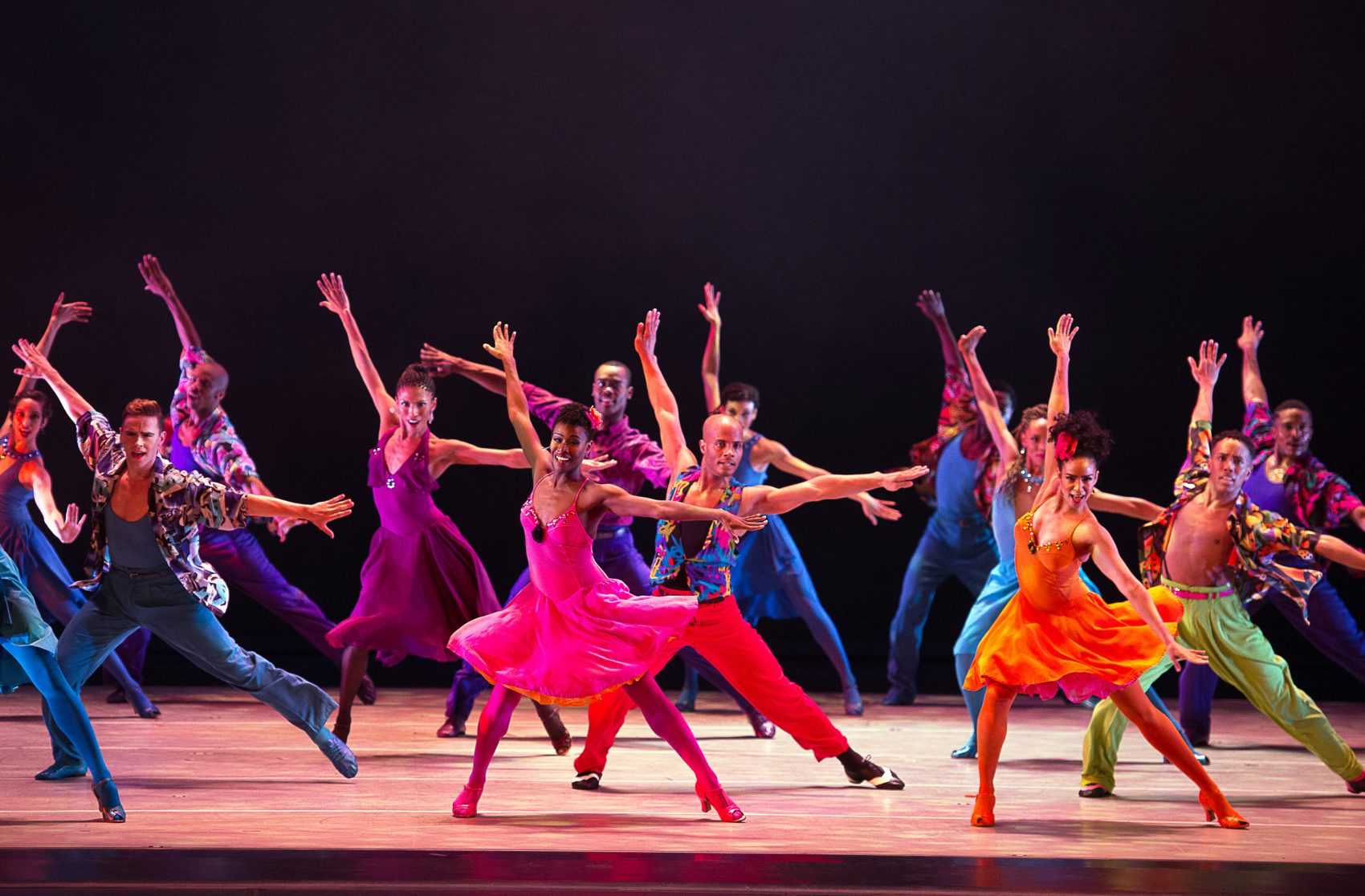 """The Alvin Ailey troupe in Billy Wilson's """"The Winter in Lisbon."""" (Courtesy Christopher Duggan)"""