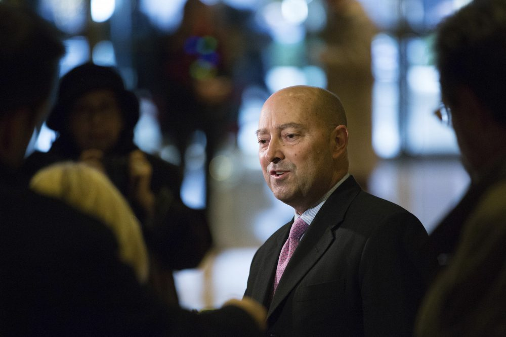 Retired Adm. James Stavridis in Trump Tower on Dec. 8, 2016. (Kevin Hagen/AP)