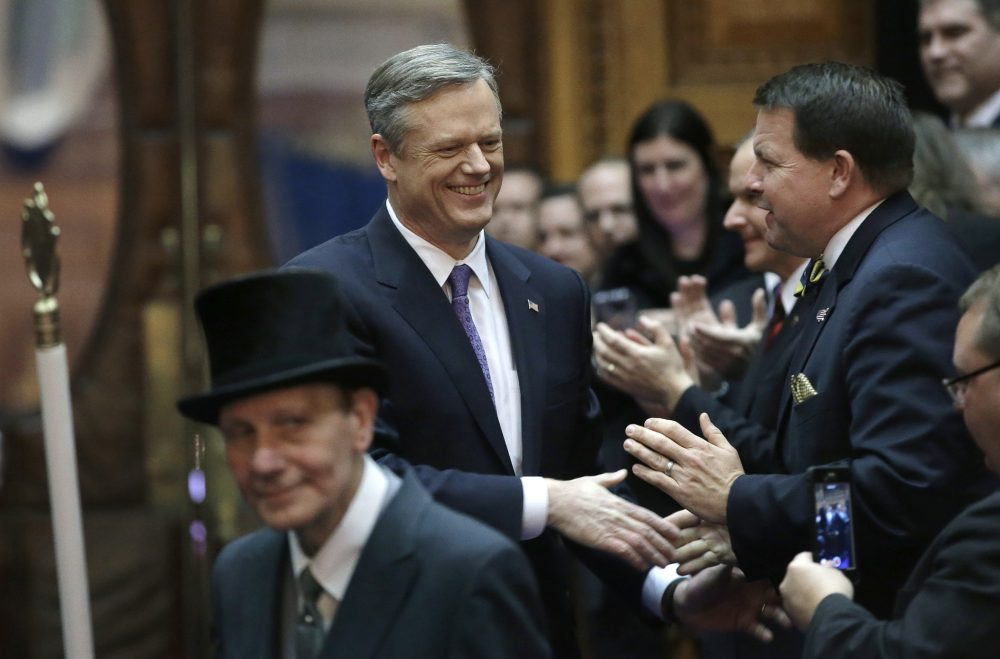 Democratic leaders have so far focused on finding areas of agreement with Republican Gov. Charlie Baker. With reelection looming, this could well change. (Steven Senne/AP)