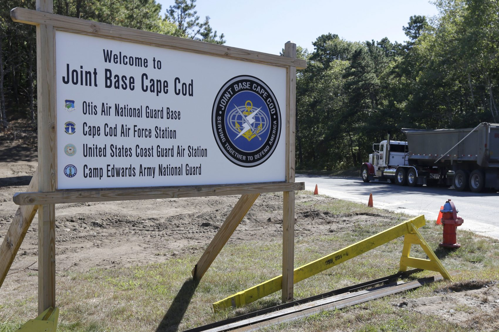 Joint Base Cape Cod, seen here in this 2014 file photo, will have the military's first renewable energy microgrid. (Steven Senne/AP)