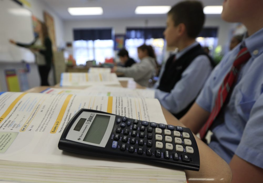 "Andrew Hacker, a political science professor at Queens College, says all students don't need to learn calculus, geometry and trigonometry. He's pushing for the adoption of ""numeracy"" -- which would allow students to deepen their ability to use math concepts in the real world. (Mike Groll/AP File)"
