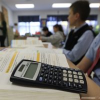 """Andrew Hacker, a political science professor at Queens College, says all students don't need to learn calculus, geometry and trigonometry. He's pushing for the adoption of """"numeracy"""" -- which would allow students to deepen their ability to use math concepts in the real world. (Mike Groll/AP File)"""