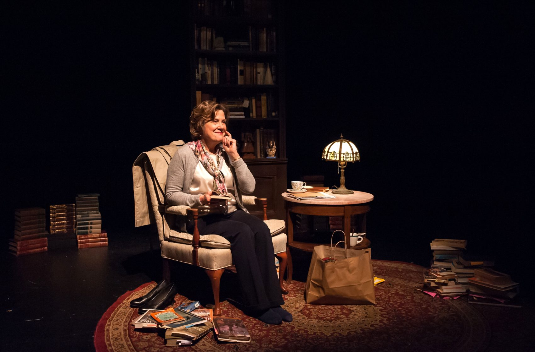 """Debra Wise in the Underground Railway Theater's production of """"Homebody."""" (Courtesy A.R. Sinclair Photography)"""