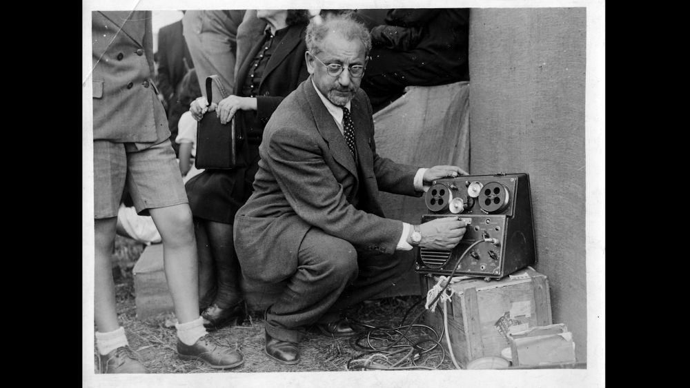 After the concentration camps were liberated at the end of World War II, psychologist David Boder of Chicago, pictured above, visited former prisoners and recorded dozens of interviews. (Illinois Institute of Technology)