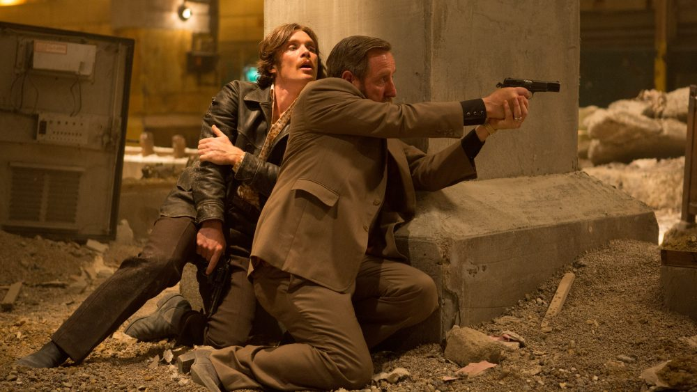 """Cillian Murphy and Michael Smiley in """"Free Fire."""" (Courtesy A24)"""
