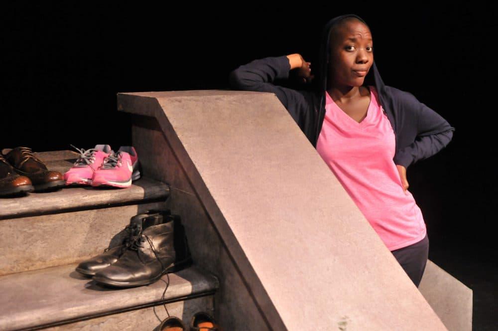 """Adobuere Ebiama in """"Mr. Joy."""" (Courtesy Craig Bailey/ArtsEmerson)"""