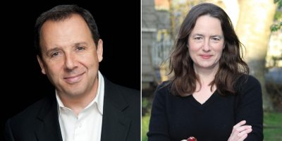 Ron Suskind, left, and Heather Cox Richardson.