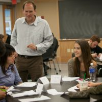 Steven Strogatz teaches a math class for non-math majors at Cornell. (Courtesy of Cornell University Photography)