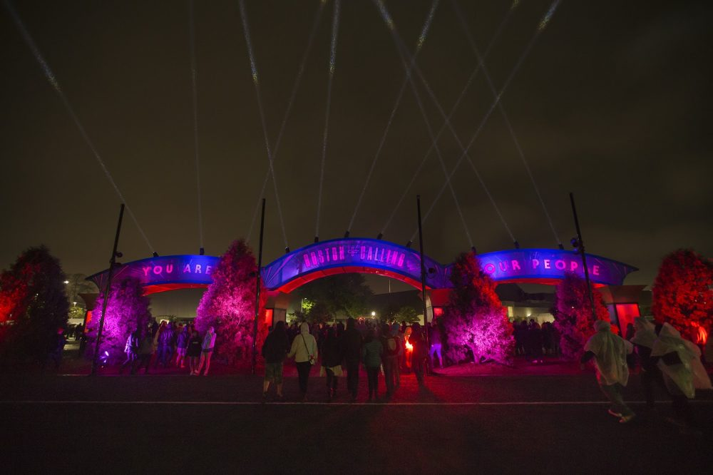 The entrance of the Boston Calling Music Festival at the end of the first night. (Jesse Costa/WBUR)
