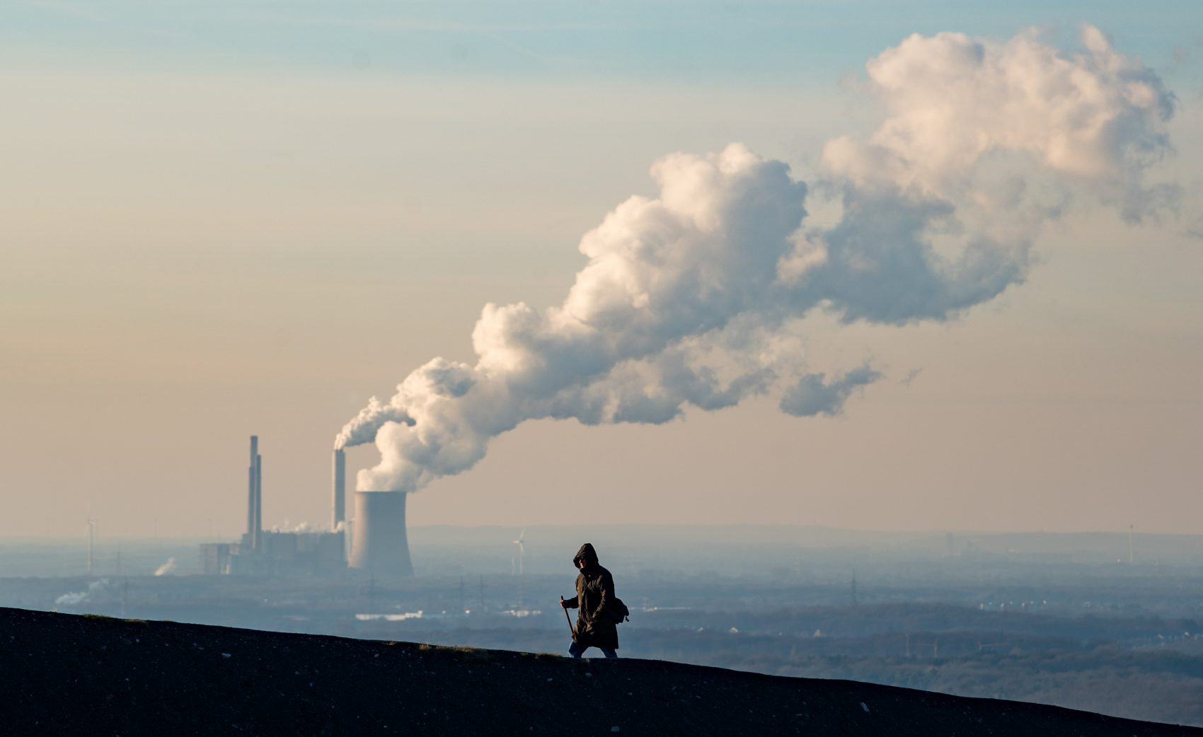 Steam and exhaust rise from a power plant on Jan. 6, 2017 in Oberhausen, Germany. According to a report released by the European Copernicus Climate Change Service, 2016 is likely to have been the hottest year since global temperatures were recorded in the 19th century. (Lukas Schulze/Getty Images)