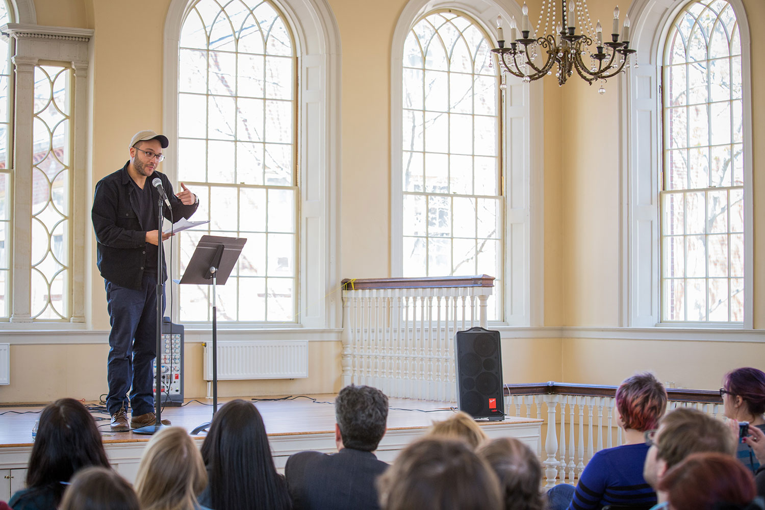A previous year's Massachusetts Poetry Festival event at Salem's Old Town Hall. (Courtesy Massachusetts Poetry Festival.)