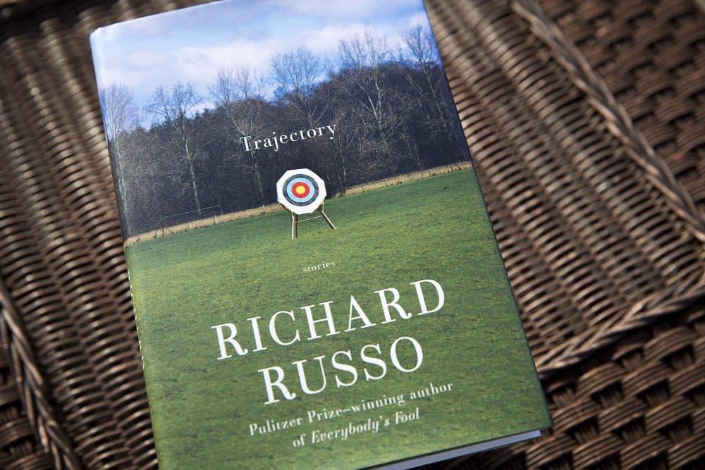 """Richard Russo's """"Trajectory."""" (Robin Lubbock/WBUR)"""