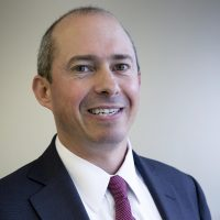 Jay Gonzalez, who is running for governor of Massachusetts, at WBUR (Robin Lubbock/WBUR)