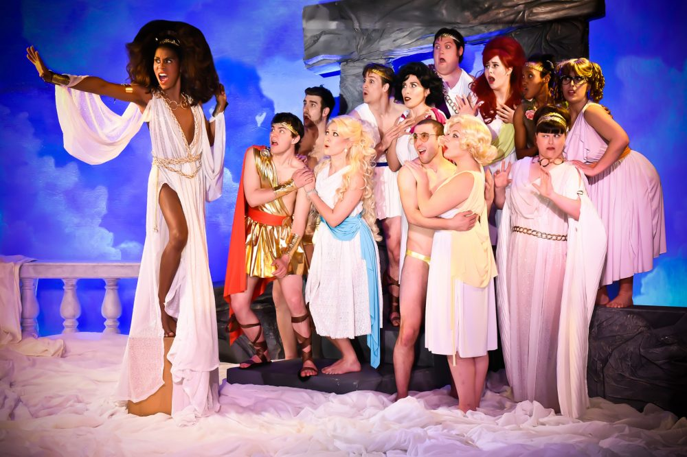 "Aphrodite and the cast of ""Greece."" (Courtesy Ryan Landry and the Gold Dust Orphans)"