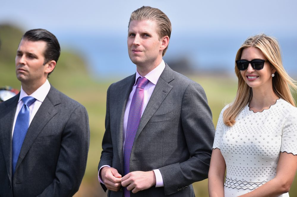 Eric Trump (center) is seen at the Trump Turnberry Resort on June 24, 2016 in Ayr, Scotland. (Jeff J Mitchell/Getty Images)