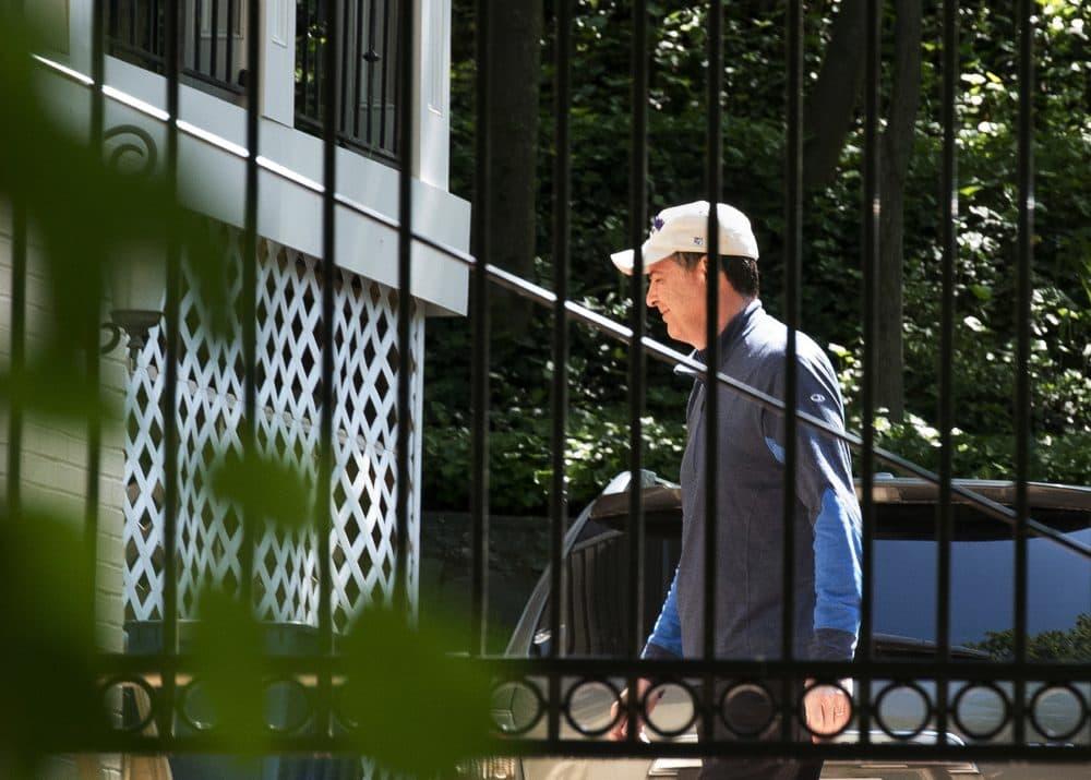 Former FBI Director James Comey walks at his home in McLean, Va., Wednesday, May 10, 2017. (Sait Serkan Gurbuz/AP)