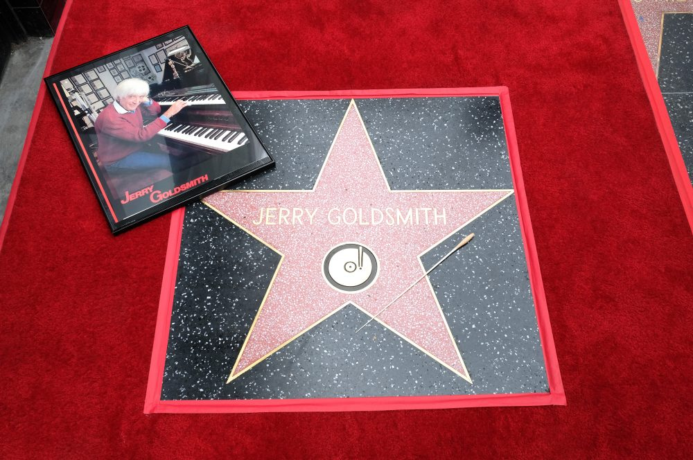 Jerry Goldsmith's star on the Hollywood Walk of Fame during a ceremony in Hollywood, on May 9, 2017. (Chris Delmas/AFP/Getty Images)