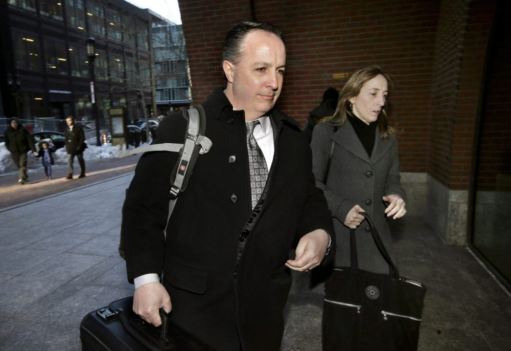 Barry Cadden arriving at the federal courthouse in Boston for closing arguments in his trial in March. (Steven Senne/AP)