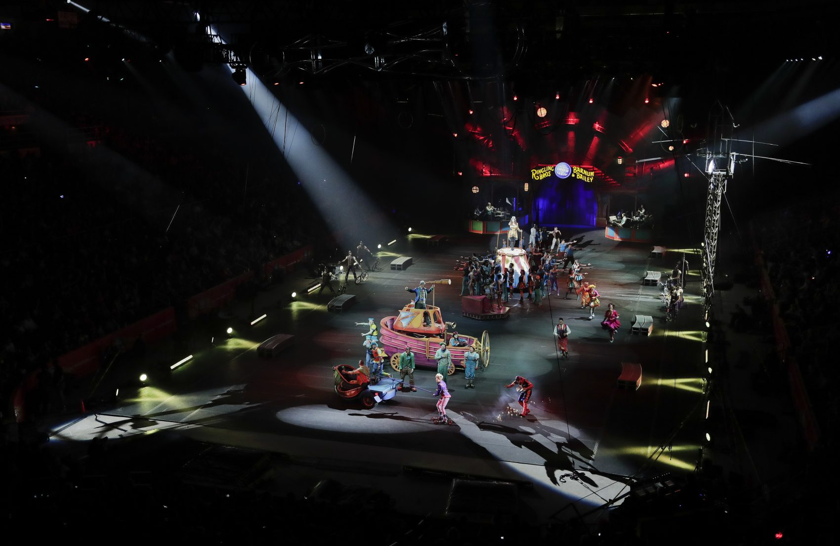 The red unit of Ringling Bros. and Barnum & Bailey circus opens a show on May 7 in Providence, R.I. (Julie Jacobson/AP)