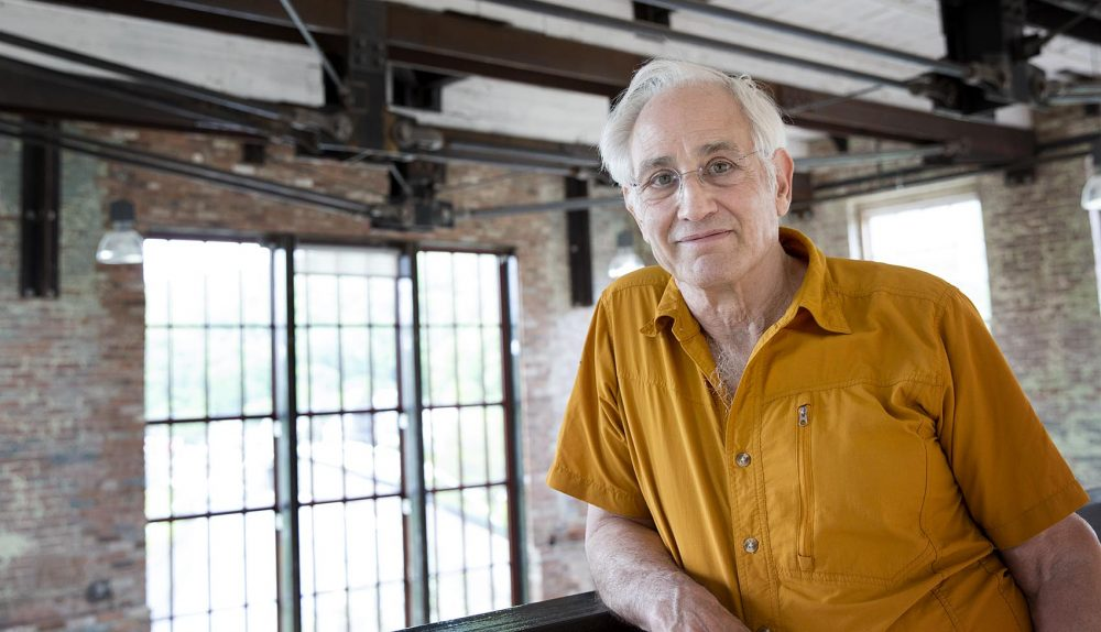 Architect Simeon Bruner on the top floor of MASS MoCA's newly renovated Building 6. (Robin Lubbock/WBUR)