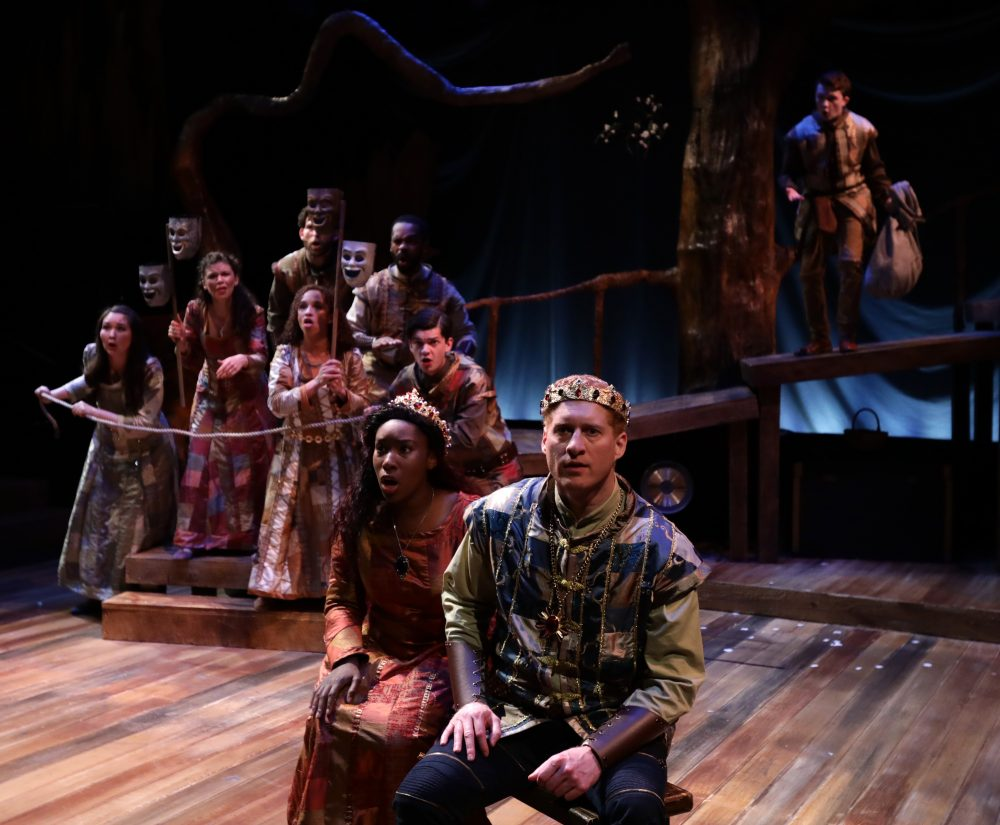 "Guenevere and King Arthur in Lyric Stage's ""Camelot."" (Courtesy Mark S. Howard/Lyric Stage)"