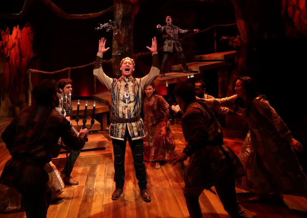 Ed Hoopman as King Arthur. (Courtesy Mark S. Howard/Lyric Stage)