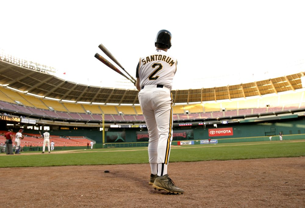 Former Sen. Rick Santorum played in the 2005 Congressional Baseball Game. The tradition dates back to 1909. (Shaun Heasley/Getty Images)