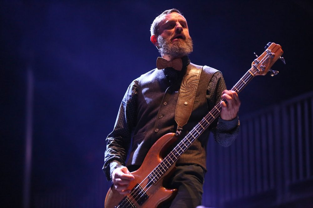 Tool's bassist Justin Chancellor. The alt-metal band closed out Boston Calling Sunday night. (Hadley Green for WBUR)