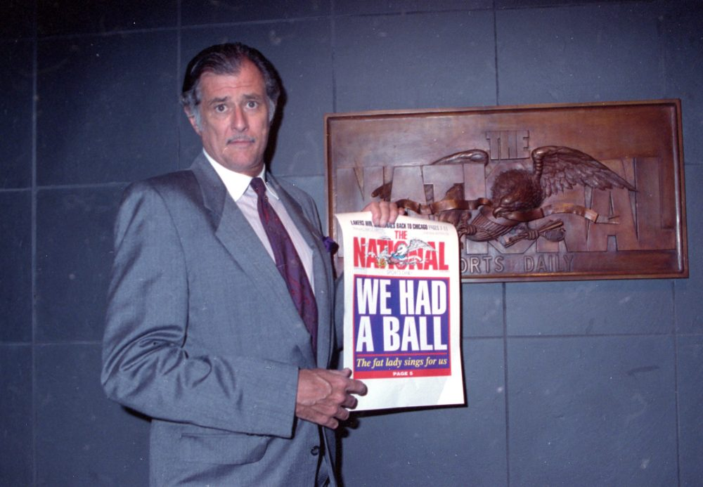 Frank Deford, pictured here in 1991, died on May 28 at the age of 78. (Susan Ragan/AP)