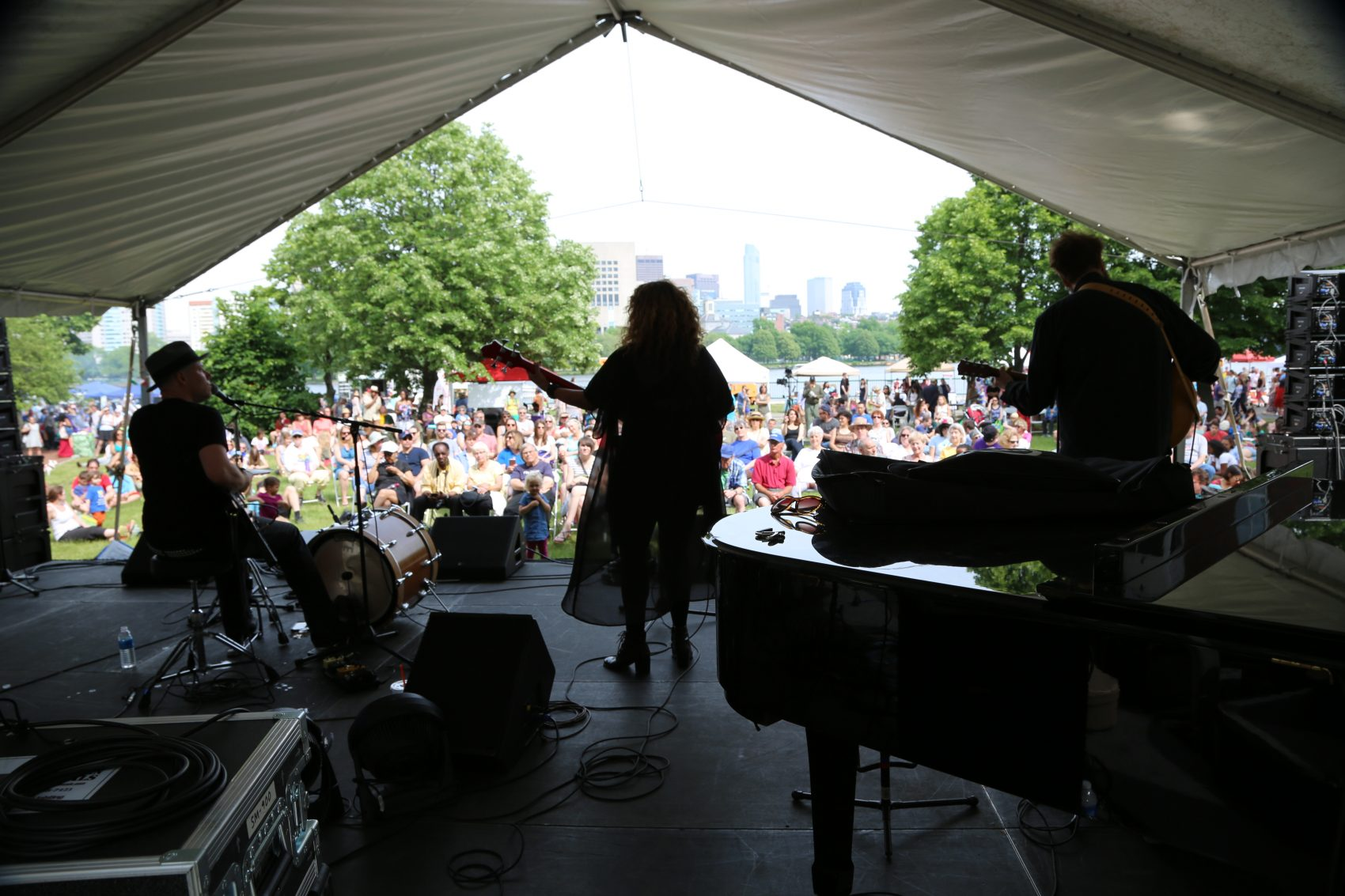 A band plays at the Cambridge River Fest in 2016. (Courtesy Cambridge Arts)