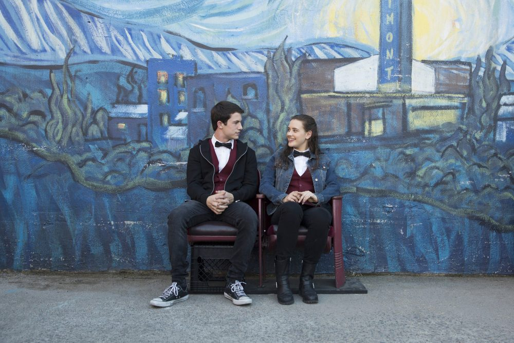"Dylan Minnette and Katherine Langford in ""13 Reasons Why."" (Beth Dubber/Netflix)"