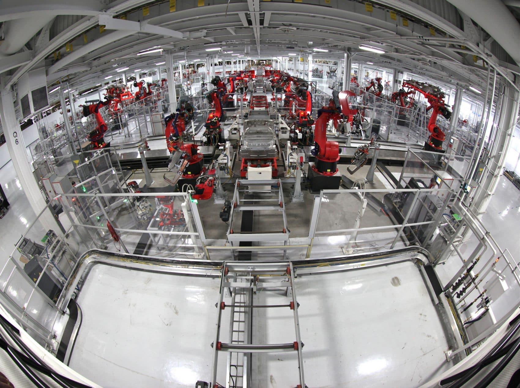 The Tesla Motors assembly line. (Steve Jurvetson/Flickr)