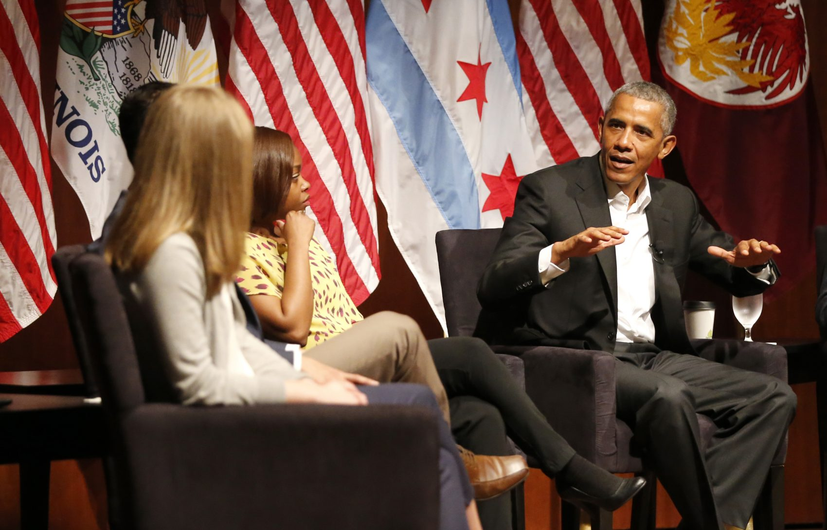 The former president has worsened the Democratic Party's public relations problem, writes Miles Howard. Pictured: Former President Barack Obama hosted a conversation on civic engagement and community organizing, Monday, April 24, 2017, at the University of Chicago. It's the former president's first public event of his post-presidential life in the place where he started his political career. (Charles Rex Arbogast/AP)