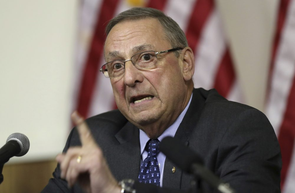 In this March 8, 2017, file photo, Maine Gov. Paul LePage speaks at a town hall meeting in Yarmouth, Maine. (Robert F. Bukaty/ AP)