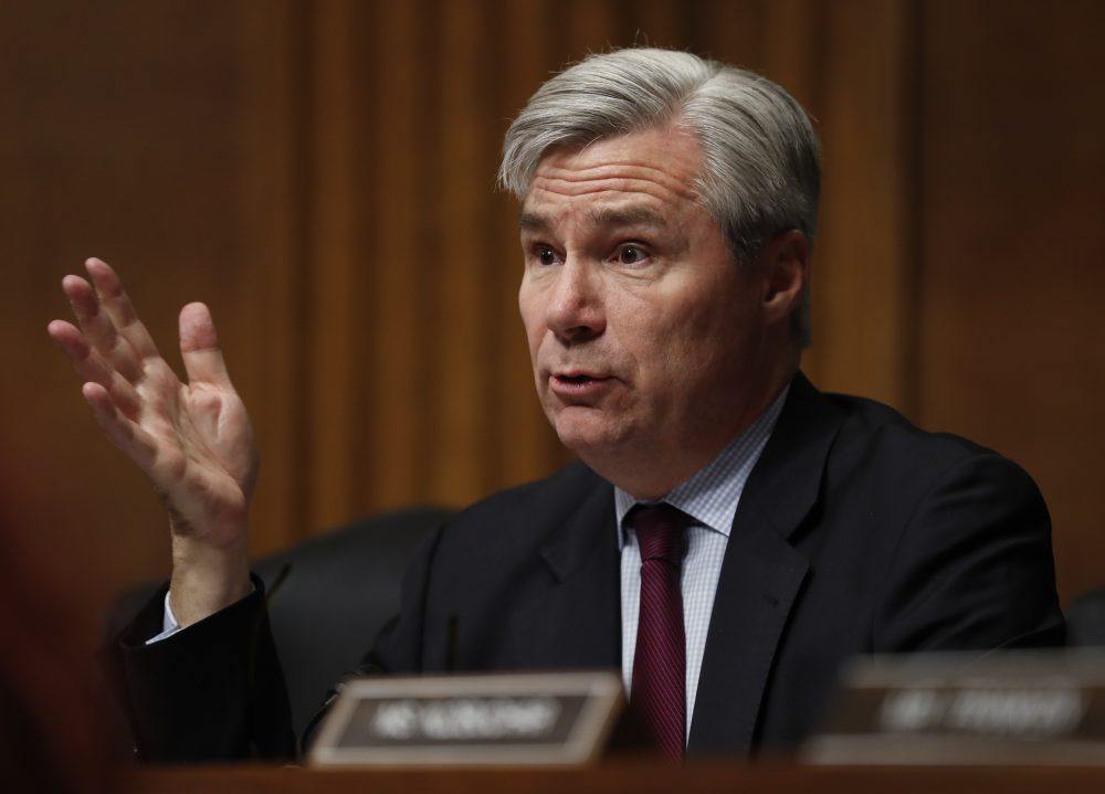 Senate Judiciary Committee member Sen. Sheldon Whitehouse, D-R.I. questions FBI Director James Comey as he testifies on Capitol Hill Wednesday. (Carolyn Kaster/AP)