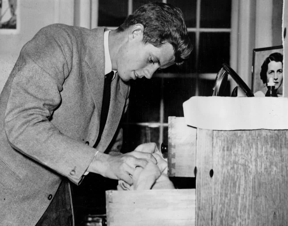 John F. Kennedy, in his junior year at Harvard University, is shown at Harvard's Winthrop House in Cambridge in 1939. (AP)