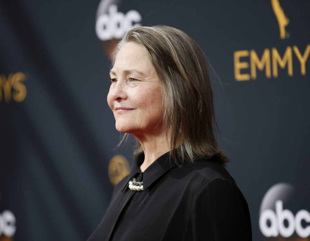 Cherry Jones arrives at the 68th Primetime Emmy Awards (Photo by Danny Moloshok/Invision for the Television Academy/AP)
