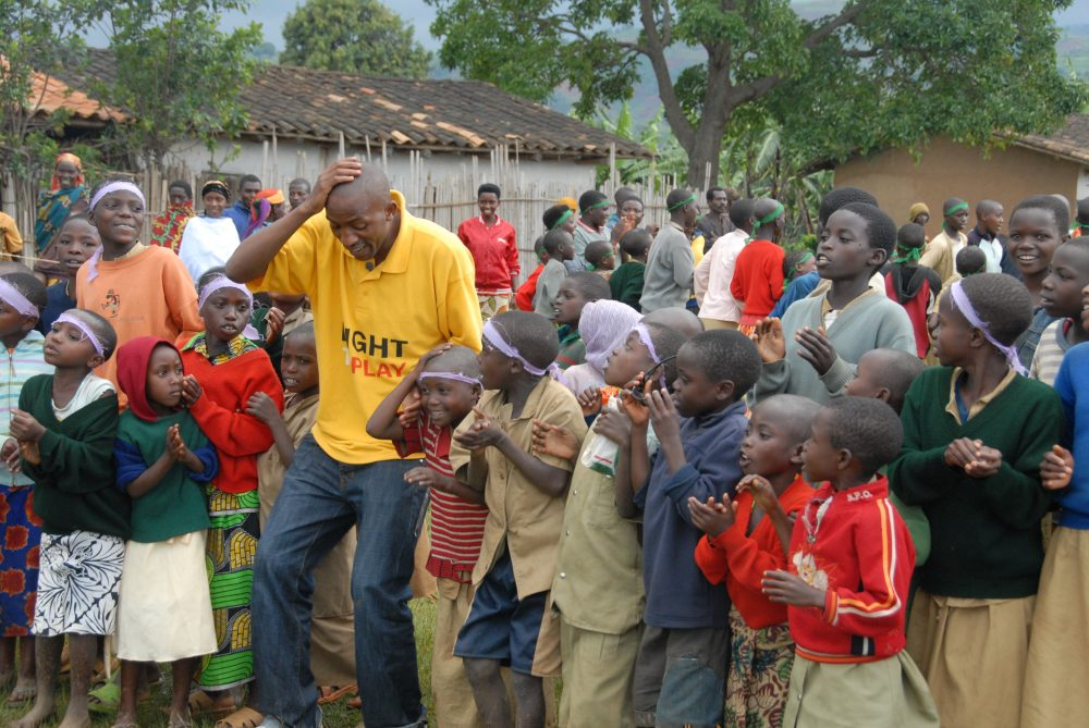 "Now back in Burundi, Benjamin Nzobonankira has founded an organization of his own to bring ""play"" to kids who need it. (Right To Play)"