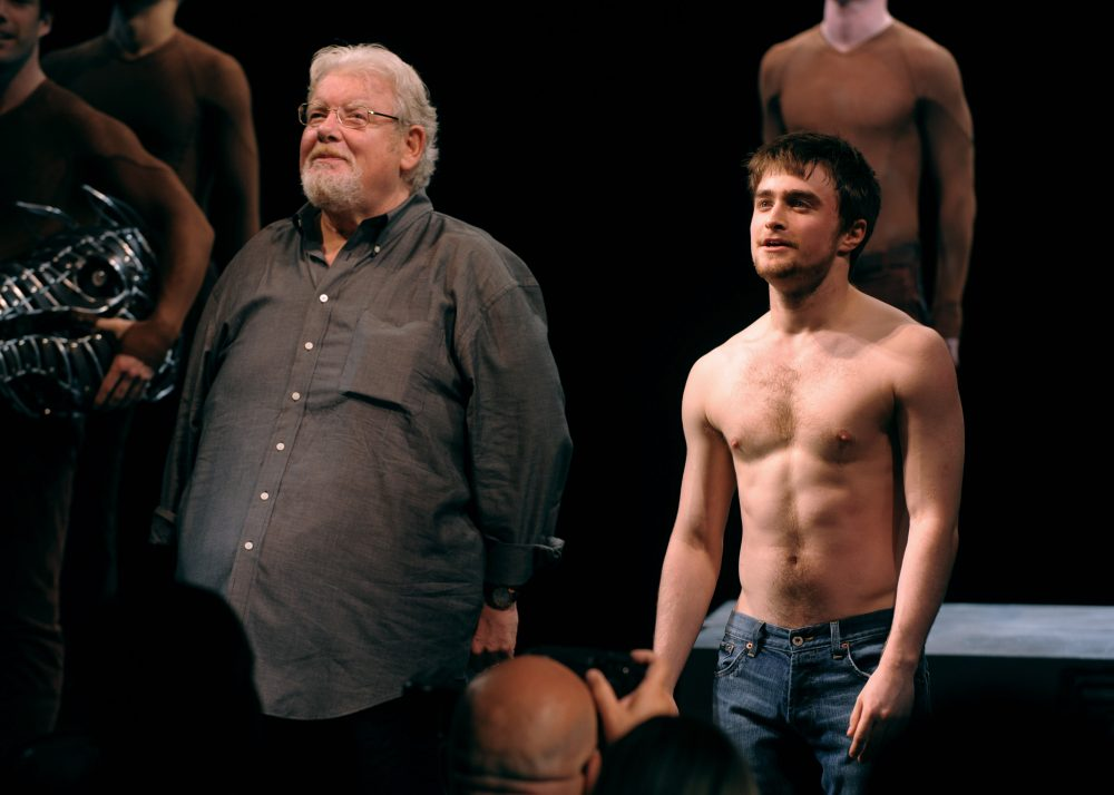 "The late Richard Griffiths and Daniel Radcliffe in the 2008 New York opening of ""Equus."" Radcliffe appeared nude in the play. (Peter Kramer/AP)"